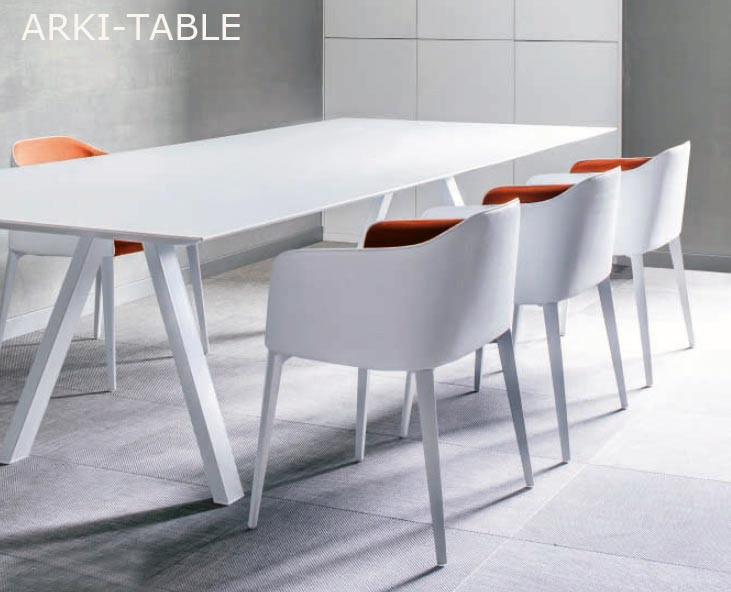 Table arki table 200 x100 cm design by pedrali r d - Table de reunion design ...