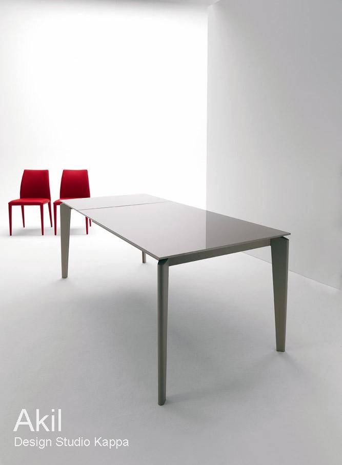 table extensible akil 120 170 x 80 cm design by studio kappa. Black Bedroom Furniture Sets. Home Design Ideas