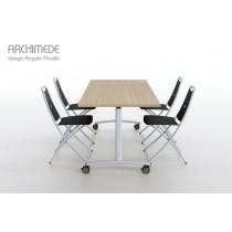 Table de réunion ARCHIMEDE, 120 à 200 X 80 cm, Design Angelo PINAFFO