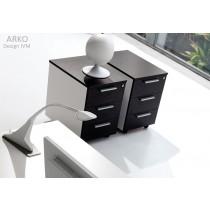 Caisson mobile à tiroirs K511, structure et tiroirs métal, IVM office