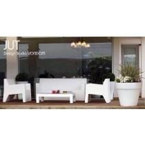 Salon de jardin JUT, 1 Sofa + 2 Fauteuil Butaca + 1 Table basse 120 cm, Design Studio VONDOM