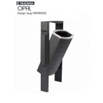 Poubelle cendrier Extérieure, OPAL, 50 litres, Acier et fonte d'Aluminium, Design Sergi FERNANDEZ