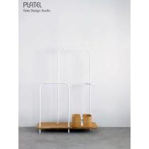 PLATEL, meuble de rangement, Chêne, 116x166  cm,  avec PLT 202, Note Design Studio