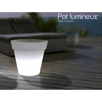 Grand Pot lumineux LED, H 32 Cm Ø 35 cm, Design by LED-On