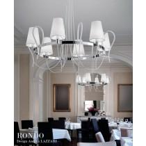 RONDO LA6, Lustre, Métal chromé et cristal vernis, Design Andrea LAZZARI