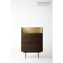 Commode STOCKHOLM STK 202, plaqué Chêne teinté Ebène, 92x46x134 cm, Design Mario RUIZ