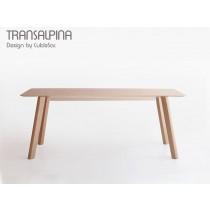 Table TRANSALPINA TRA 202, Hêtre, 200x90 cm, Design by CulDeSac