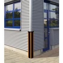 Protection d'angle, Acier et caoutchouc, H 80, L10 cm, Design ProCity