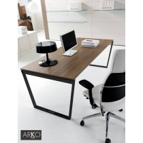 Bureau ARKO Executive, plateau Noyer, 200 X 90 cm, IVM office
