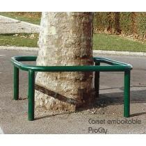 Corset emboitable pour arbre, Acier laqué sur galva, 120 x 120 cm, Design ProCity