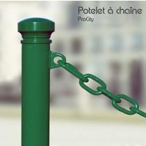 Potelet à chaîne, 1 anneau,  Ø 114 mm, Acier laqué, Design ProCity