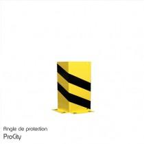Angle de protection, tôle d'Acier laquée jaune et noir, H 40 cm, Design ProCity