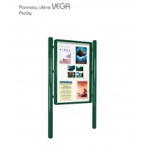 Panneau vitrine VEGA simple face 570000, affichage 120 x 80 cm, Design ProCity