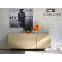 Buffet AMSTERDAM 15.19, Bois laqué, 195x53x83 cm, Design by BONTEMPI CASA