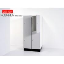 Vestiaires AQUARIUS HVL 2302 P, 4 casiers Bois, 60x52 H 132 cm, VAN ESCH
