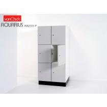 Vestiaires AQUARIUS HVL 2303 P, 6 casiers Bois, 60x52 H 132 cm, VAN ESCH