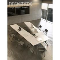 Table de réunion ARCHIMEDE, 320X320x80 cm, Design Angelo PINAFFO