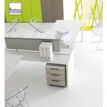 Caisson mobile à tiroirs, serrure et tiroirs métal, coloris PENELOPE Sable, IVM office
