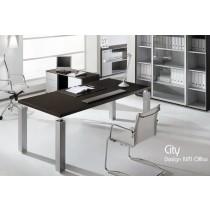 Bureau CITY, Wengé, 210X100 cm, Design IVM Office