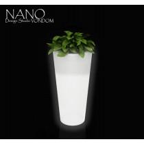 Vase NANO Leds, Cône Haut Leds, H 36 cm, Design Studio VONDOM