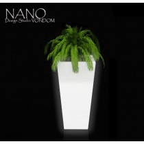 Vase NANO Leds, Cône carré, H 36 cm, Design Studio VONDOM