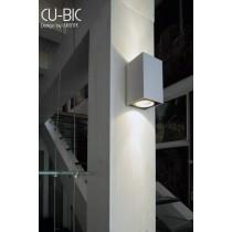 Applique double CU-BIC, H 17 cm, Design by LUCENTE