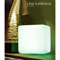 Cube Lumineux LED 30 Cm rechargeable, Design by LED-On