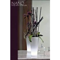 Vase NANO Leds, Cône courbe, H 36 cm, VONDOM
