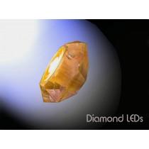 """Diamant """"Crystal"""" verre Ambre LEDs à télécommande, Design by Blue Ocean"""