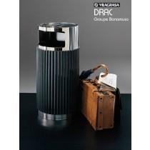 Poubelle cendrier DRAC CP, Acier Inox, 49 litres, Design Groupe BONAMUSA
