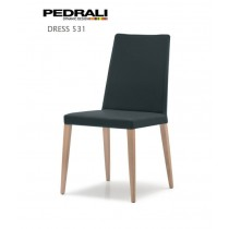 Chaise DRESS 531, Chêne et Velours, Design PEDRALI Lab