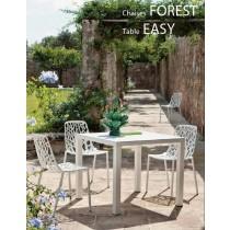 Table New EASY en Aluminium, Indoor/outdoor, 90x90 Cm, FAST Spa