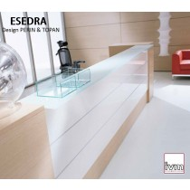 Banque d'accueil ESEDRA Lineare, 327X76 cm, Design Perin & TOPAN
