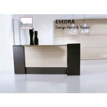 Banque d'accueil ESEDRA Lineare, 207X76 cm, Design Perin & TOPAN
