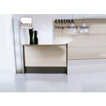 Banque d'accueil ESEDRA Lineare, 126X76 => 366x76 cm, Design Perin & TOPAN