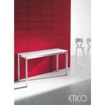 Console Table extensible ETICO, Acier et Verre, 130 X 48 à 130 x 179 cm, Design ERRESSE Studio