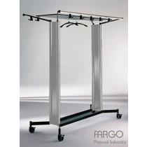 Chariot porte manteau FARGO FC 2, Aluminium, Design by Pascual SALVADOR