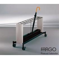 Chariot porte parapluies FARGO FCP, Aluminium, Design by Pascual SALVADOR pour VILAGRASA