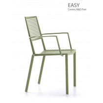 Fauteuils EASY empilablesen Aluminium, Design Centre R&D Fast