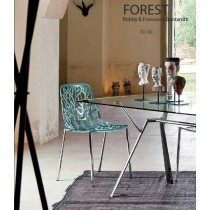 Chaise FOREST, empilable en Aluminium, Design Robby et Francesca Cantarutti