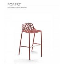 Tabouret FOREST, Dossier bas, Aluminium laqué, H. Ass. 65 cm, Design Robby et Francesca Cantarutti