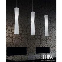 Suspension FRISE SO1 Blanc soie, (vue de 3 suspensions ) Design Andrea LAZZARRI