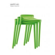 Tabouret empilable HAPPY 491, Design Cristian GORI