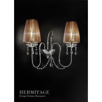 Applique HERMITAGE PA2, Swarovsky et Organdi, Design Stefano MANDRUZZATO