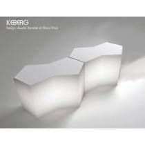 Bar ICEBERG, composition 2 modules et kits d'éclairage