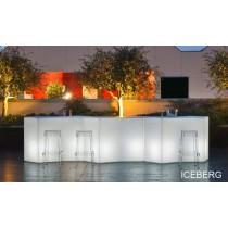 Bar ICEBERG, composition 3 modules et Kits d'éclairage