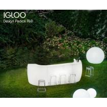Bar lumineux IGLOO, 3,2 X 0,79 M, Designer PEDRALI R&D