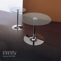 Tables verre INFINITY, D 60 cm, et 100 cm MIDJ