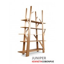 Bibliothèque JUNIPER, Chêne, Design Kenneth COBONPUE