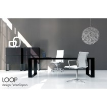 Bureau de DIrection LOOP, Wengé, 218X100 cm, Design Perin & TOPAN